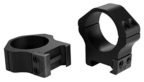 Warne Maxima Horizontal 30mm High Fixed Steel Scope Rings Matte Black - 515M
