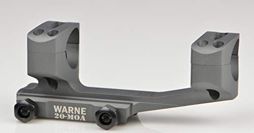 Warne Scope Mounts 20MOA Extended Skeletonized 1 MSR Mount Black