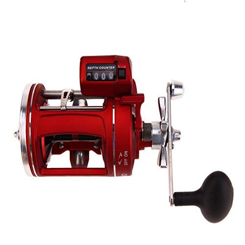 Alloet 111BB Fishing Wheel Reel Spool Tackle Tool Fishing Line Counter Trolling Reels Right Handle ACL Bait Wheel