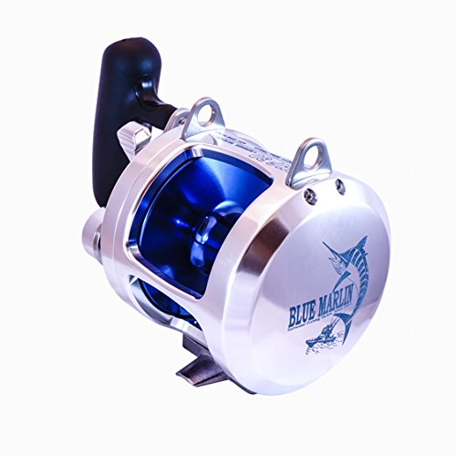 SALE 29999 NORMALLY 47999 - Blue Marlin BMF-30 Big Game Saltwater Trolling Reel - Blue - Aluminum Construction - Corrosion Resistant - 431171 Ratio - 700yd Line Capacity 30lb