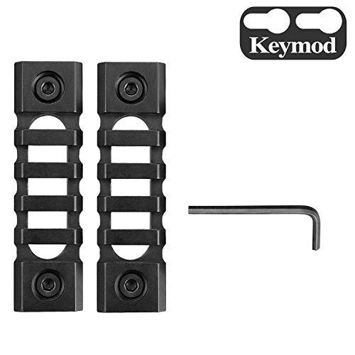 GOTICAL Keymod 5 Slot Lightweight Picatinny Rail Section Hollow-Out Design for Keymod Handguard Mount Rail System Five Slot Keymod Rail 2 Pcs