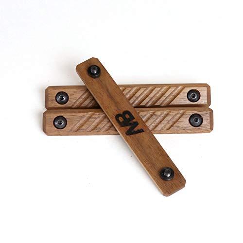Grooved Rail Panels Keymod Walnut Wood 3-Piece