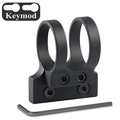 OTW Offset 1 inch Tactical Flashlight Mount for Keymod Version Rail Aluminum Black
