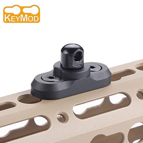 Sawke Keymod Sling Swivel Stud - Keymod QD Sling Swivel Mount Rifle Sling Adapter for Keymod Railfor Two Point Sling Black