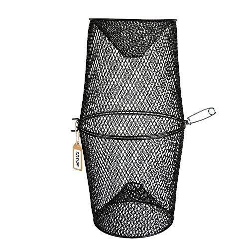 Pisfun Minnow Trap CrawfishEllGrass ShrimpCrawdads Trap Steel Bait Traps Storage Fishing Net Bucket