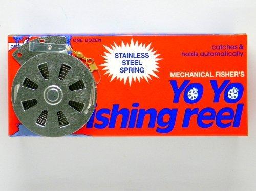 12 Mechanical Fishers Yo Yo Fishing Reels Flat Trigger Model