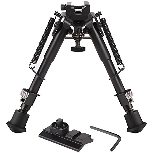 Feyachi Riflebipod 3 in 1 Hunting Tactical Rifle Bipod  Picatinny MountRail AdapterSwivel Stud Mounts