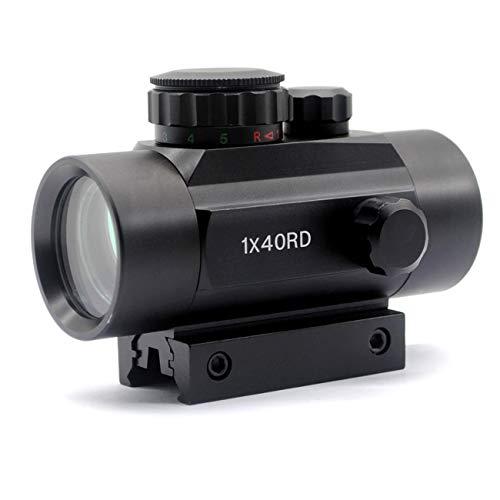 TRIROCK 5-MOA 40mm Reflex RedGreen Dot Sight Scope wLens Cover - PicatinnyWeaverDovetail Mount - Night-Vision Compatible Parallax Free
