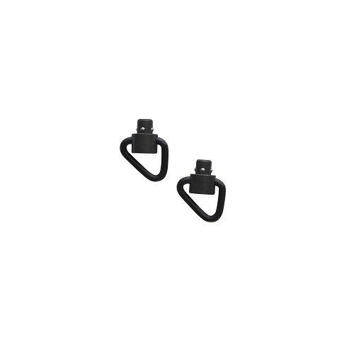 GrovTec Recessed Plunger Manganese Phosphate D Loop Heavy Duty Push Button Swivels