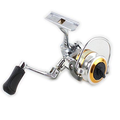 Geelife Mini Super Pocket Spinning Fishing Reel Gear Ratio 431 121BB Ball Bearing Saltwater Freshwater Fishing Spinning Reel 150