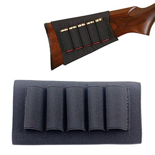 1PCs Butt Stock Buttstock Rifle Shotgun Shell Cartridge Holder Carrier for 12G 12 Gauge20G 20 Gauge Black