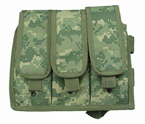 Ultimate Arms Gear ACU Digital Camouflage Triple Drop Leg Magazine Pouch For Ruger 1022 10-22 Mini 14 30 SR-556 SR-22 Rifle