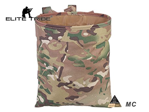 Airsoft Molle Magazine Dump Pouch Tactical Recycling Bag Multicam