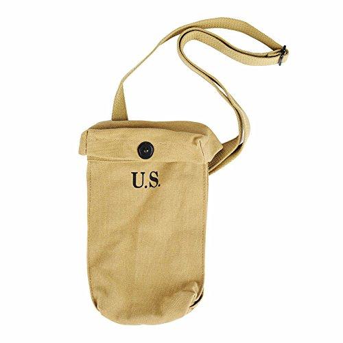 WW2 US Tactical Magazine Dump Pouch WWII Ammunition Carrying Bag Khaki Canvas