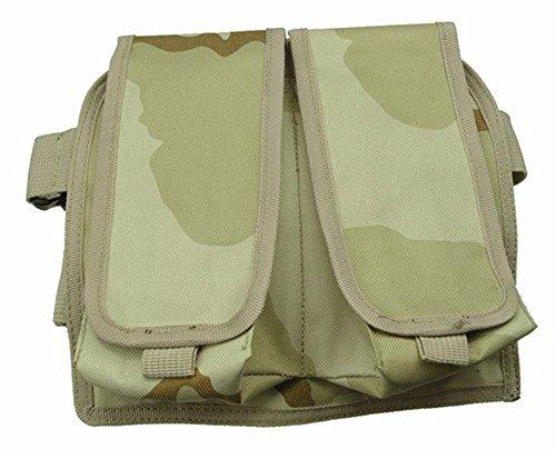 Ultimate Arms Gear Desert Camouflage Double Drop Leg Magazine Pouch For AK47 AK-47 AK74 762X39