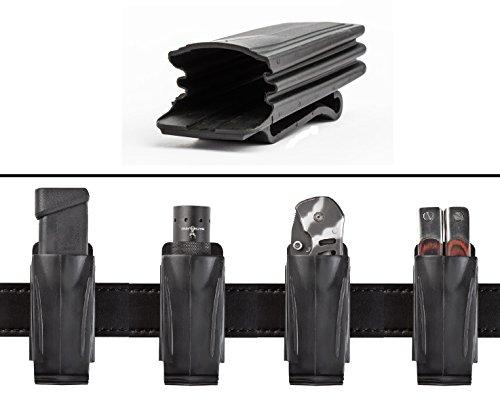 Ultimate Arms Gear MAG TAC Flashlight Light Laser Accordion Flexible Belt Clip Pouch Holder Stealth Black