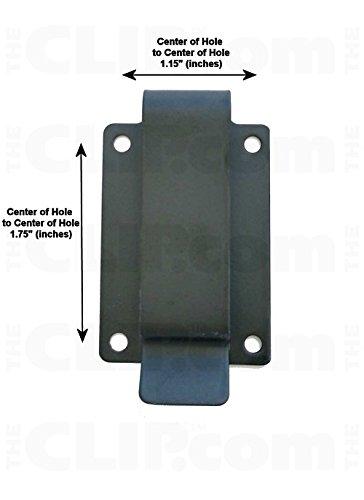 Metal Belt Holster Clip 620 Black Powder Coated Tempered Steel - Clip Only