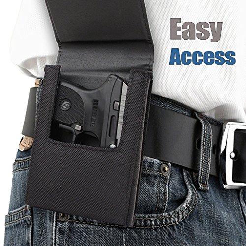 Sneaky Pete Nylon Belt Clip Holster - Medium  Fits Glock 42 Glock 43 Kimber Micro CDP Ruger LC-9 LC380 Bersa Thunder 380 Taurus 709 and More
