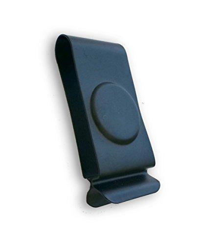 THECLIPCOM Black Powder Coated Spring Steel Belt Holster Clip 616BP - Tempered Clip