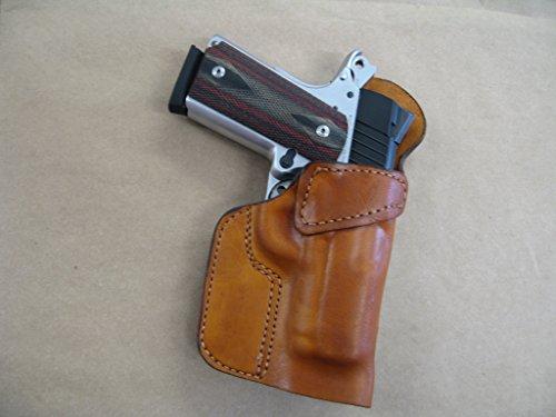 Colt Officer 1911 Leather Clip On OWB Belt Concealment Holster CCW - TAN RH USA