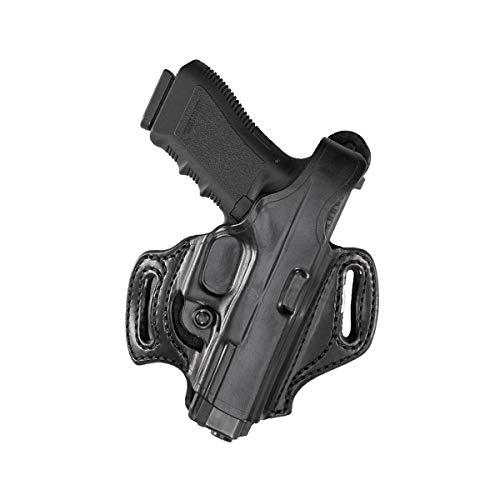 Aker Leather Products Flatsider XR12 Belt Slide Holster 168 Flatsider XR12 Belt Slide Holster Plain Right Hand Sig Sauer P320 Compact Black