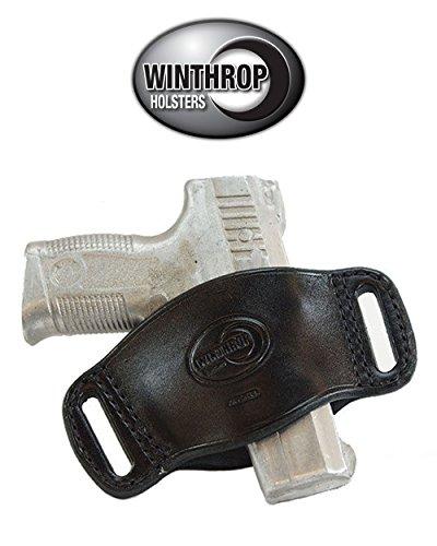 Ambidextrous OWB Med - Full Size Semi-Auto Belt Slide Holster Black - 0584