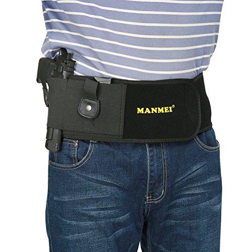 Belly Band Gun Holster Concealed Carry Tactical PistolHandgun Magazine pocket Fit Taurus Glock 17 19 43 27 42 26 36 Sr40c lc9s m9 Ruger SP101 IWB S&W Bodyguard 38 Taurus PT111 PT 14 Sig