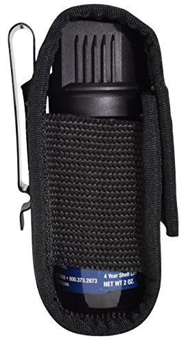 Pepper Enforcement Metal Belt Clip Tactical Holster for 2 oz Self Defense Spray Canister