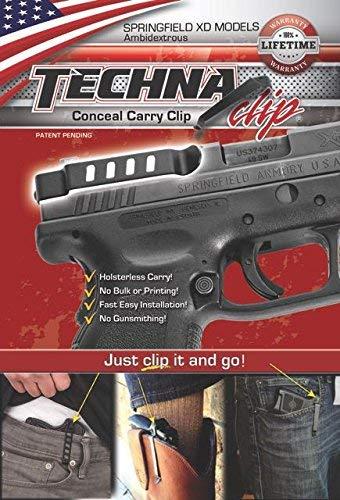 TECHNA Clip Belt Clip Fits Springfield XD Ambidextrous Black