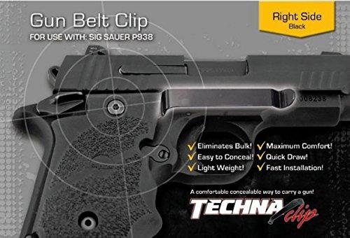 Techna Clip Belt Clip Fits Sig Sauer P938 Right Hand Black Finish P938-BR