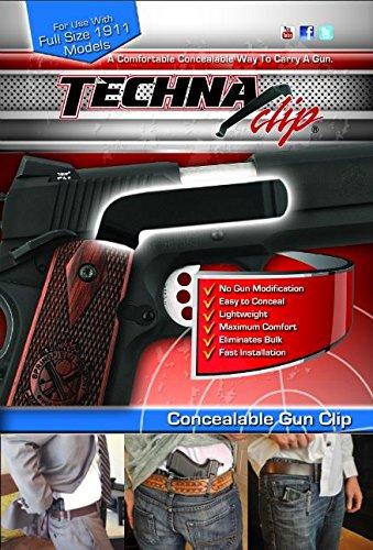 Techna Clip Gun Belt Clip - 1911 Full Size Right Side