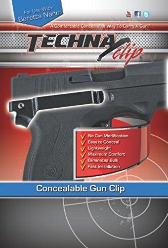 Techna Clip Gun Belt Clip - Beretta Nano - Right Side