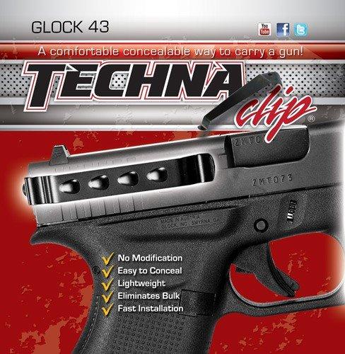 Techna Clip Gun Belt Clip - Glock 43 43X and 48 - Ambidextrous