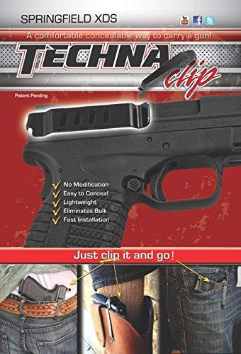 Techna Clip MAIN-41535 Pocket IWB Holster Gun Belt Clip-Springfield XDS Right-Side 100 Black