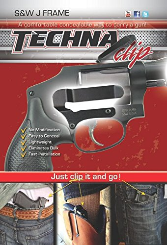 Techna Clip - Smith Wesson J-Frame Models - Conceal Carry Belt Clip Right-Side
