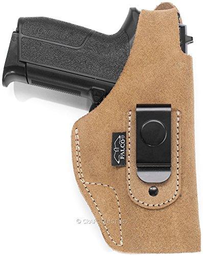 Glock 27 Gen 4 Suede IWB Holster with Steel Clip