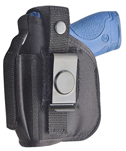 Hip Holster for S&W M&P Shield with Larger Underbarrel Laser Mounted on Gun