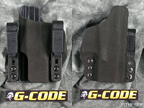 HSP Haley Strategic G-Code Incog Half Guard IWB Tuckable Holster w Brushed Aluminum Standard Mojo Glock 19 23 32 Left