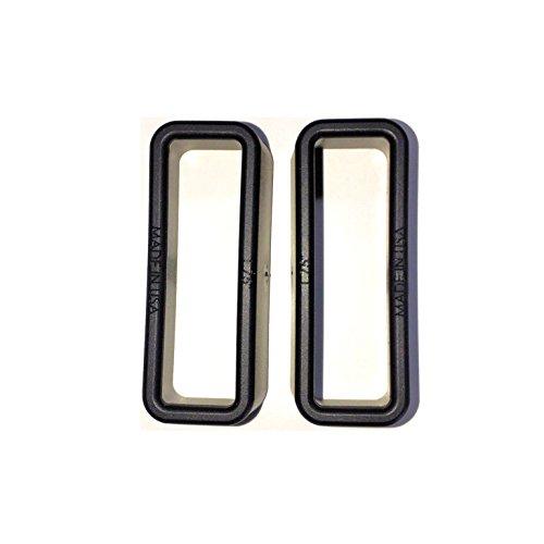 DIY Kydex Holster Angled Low Profile Belt Loops 15 Inch Belts Black - 2 Pack