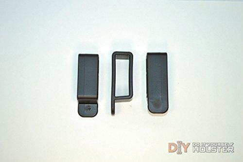 DIY Kydex Holster Belt Loops 175 Inch Belts Black - 10 Pack