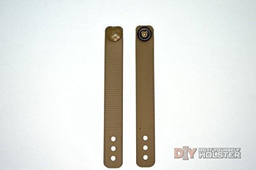 DIY Kydex Holster IWB Soft Loops - Coyote Brown 6-Pack