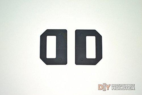 DIY Kydex Holster OWB Wings 15 Belts Black 2 Pack