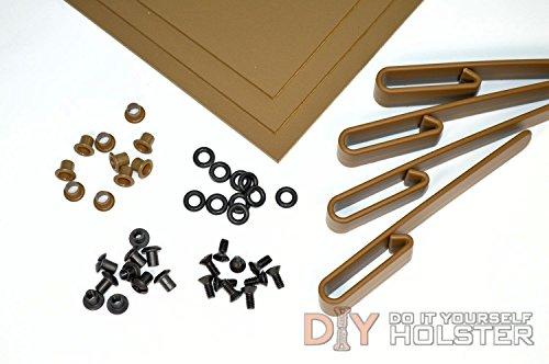 Kydex Boltaron Holster DIY Kit wIWB Over Hooks 175 Belts Coyote Brown