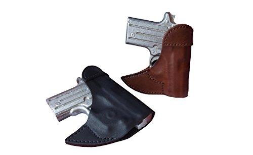 J&J Custom Fit KIMBER MICRO 9 W CRIMSON TRACE LASERGUARD Formed Front Pocket Style Premium Leather Holster BLACK