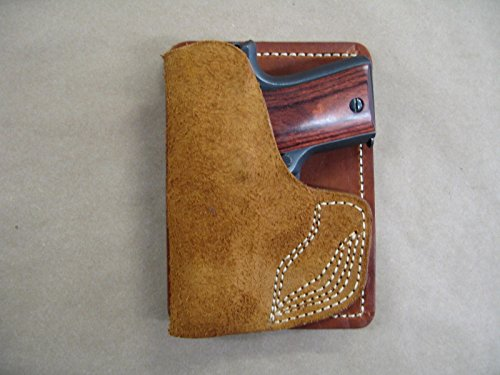 Remington RM380 380 Inside the Pocket Leather Concealment Handgun WALLET Holster CCW RH TAN