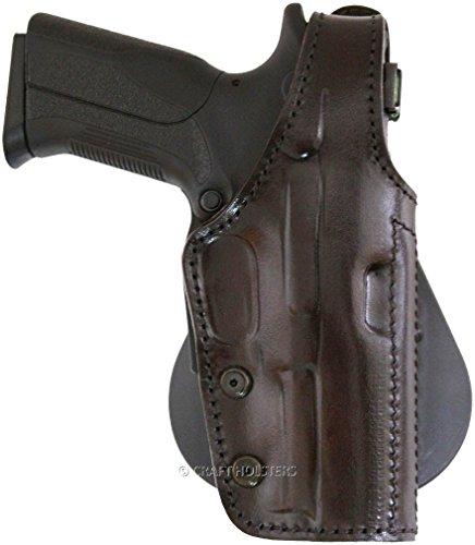 Ruger SR22 Lined Leather Paddle Holster