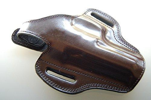 Cal38BLM9 Beretta M9 Handcrafted Leather Belt Holster LEFT Hand Tan Black BLACK