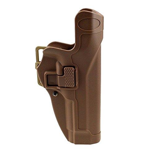 JINJULI Quick Release Tactical Level 2 Right Hand Pistol Holster Waist Belt Paddle for Beretta M9 M92