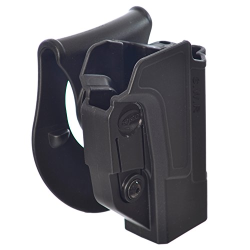 Orpaz S&W M&P Gun Holster Polymer 360 Rotation Paddle Belt w Tension Adjustment Screw Fits all Smith&Wesson M&P Handguns