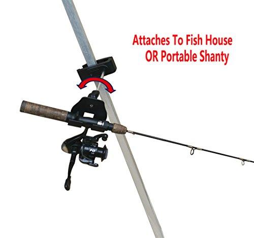 Brocraft Ice Fishing Bucket Rod Holder  Ice Fishing house shanty tip down  ice fishing rod holder